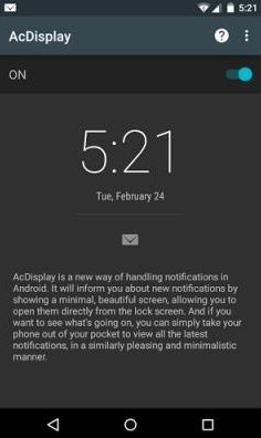 Features of Android Notification App