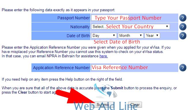 Bahrain Work Visa Status Check